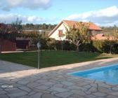 Rear garden and pool of Silver Tree